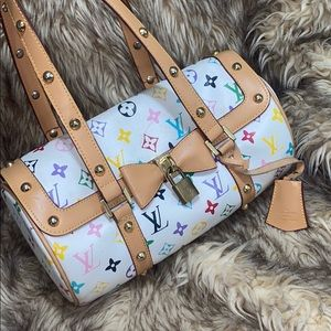 Louis Vuitton bag white monogram multicolor !!